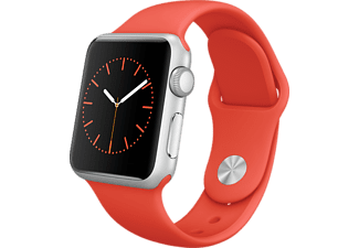 APPLE Watch 38mm zilver aluminium / oranje sportbandje