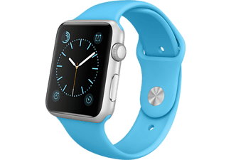 APPLE Watch 42mm zilver aluminium / blauw sportbandje