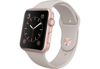 APPLE Watch 42mm rosegoud aluminium / grijs sportbandje