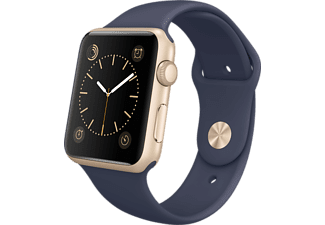 APPLE Watch 42mm goud aluminium / blauw sportbandje