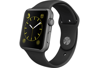 APPLE Watch 42mm spacegrijs aluminium / zwart sportbandje