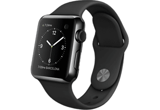 APPLE Watch 38 mm - Space Black Steel/Black Sport Band