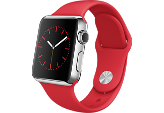 APPLE Watch 38mm roestvrij staal / (product)red sportbandje