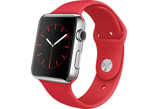 APPLE Watch 42mm roestvrij staal / (product)red sportbandje