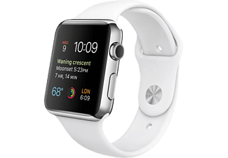 APPLE MJ3V2TU/A Watch 42 mm Paslanmaz Çelik Kasa Beyaz Spor Kordon