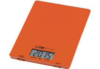 CLATRONIC KW 3626, Küchenwaage, 5 kg, Orange