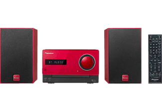 PIONEER X-CM35 R Micro Anlage (iPod Steuerung, Rot)