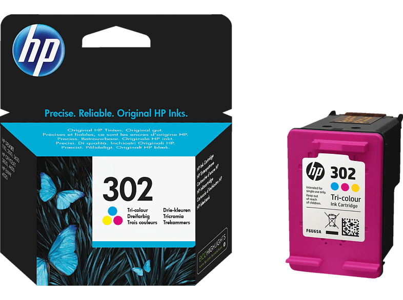 HEWLETT PACKARD Tri-color HP 302 - (HPF6U65A) laptop  tablet  computing  εκτύπωση   μελάνια μελάνια  toner computing   tablets