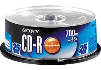 SONY 25CDQ80C 25' li CD/R Spindle Paket