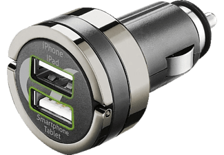 CELLULAR LINE USB CAR CHARGER DUAL PLUS - (CBRUSBDUAL4AK)