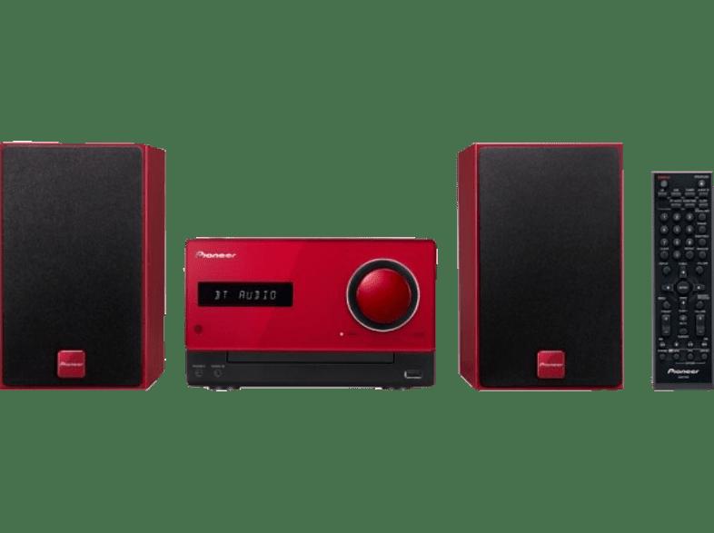 PIONEER X-CM35-R Red τηλεόραση   ψυχαγωγία ήχος micro hi fi sales εικόνα   ήχος   offline hi fi micro