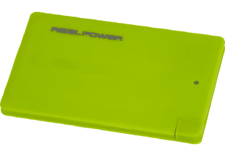 REALPOWER PB-2500 Slim, Powerbank, 2500 mAh, Grün