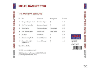 Melch Trio Däniker - The Monday Session [CD]