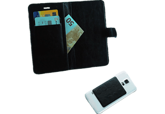 "VOLTE-TEL Θήκη Universal 4.0""-4.6"" Leather Line Book Magnet 3M Black  - (5205308151507)"