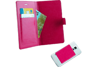 "VOLTE-TEL Θήκη Universal 4.5""-5.1"" Leather Line Book Magnet 3M Pink  - (5205308151576)"