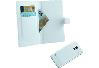 "VOLTE-TEL Θήκη Universal 4.5""-5.1"" Leather Line Book Magnet 3M White  - (5205308151569)"