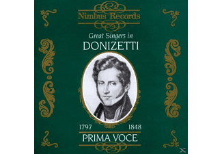 VARIOUS, Schipa/Dal Monte/Albani/+ - Great Singers In Donizetti - (CD)