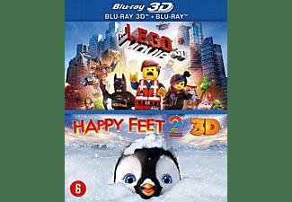 KOLMIO MEDIALego Movie(3D )/Happy Feet 2(3D)| 3D Blu - ray