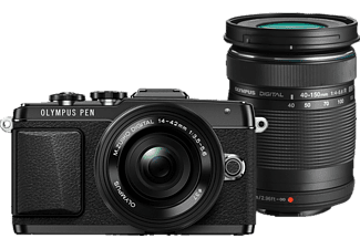 OLYMPUS E‑PL7 Double Zoom Kit Black - (V205072BE001) μαζί με τσάντα, τρίποδο, κάρτα μνήμης