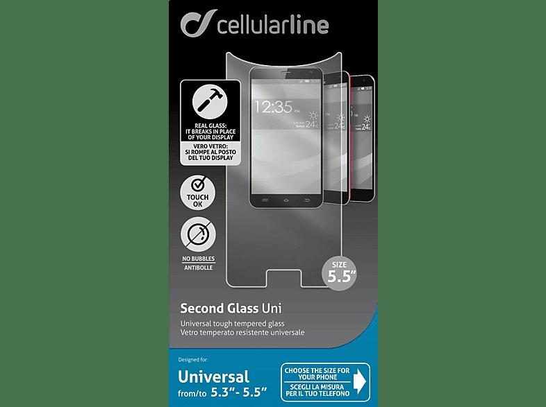 CELLULAR LINE Second Glass 5.3-5.5 - (TEMPGLASBUNI55) τηλεφωνία   πλοήγηση   offline αξεσουάρ κινητής smartphones   smartliving αξεσου