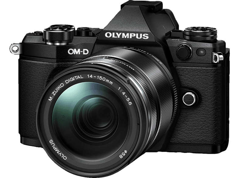 OLYMPUS E‑M5 Mark II Kit EZ-M 14-150mm II Black - (V207043BE000) photo   video   offline φωτογραφικές μηχανές mirrorless cameras hobby   φωτογραφ