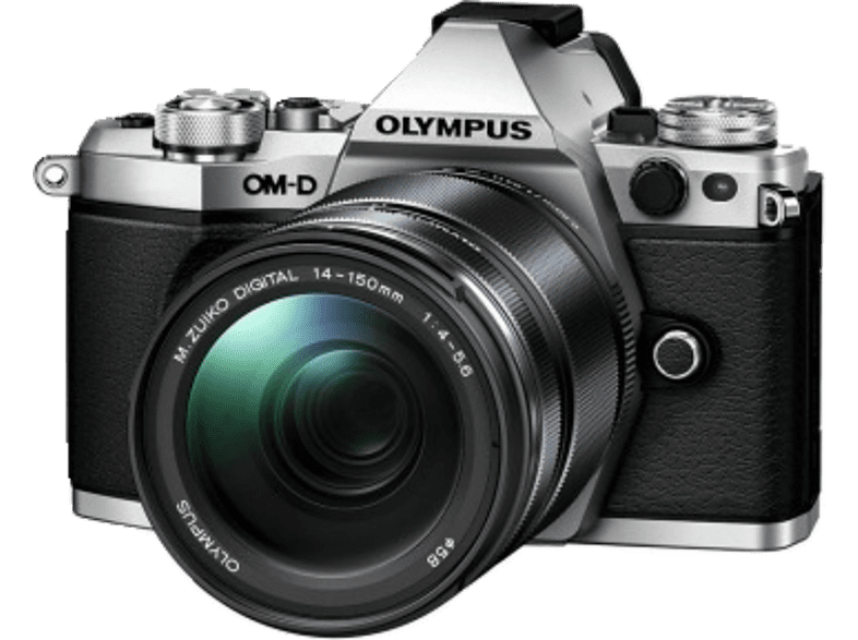 OLYMPUS E‑M5 Mark II Kit EZ-M 14-150mm II Silver - (V207043SE000) photo   video   offline φωτογραφικές μηχανές mirrorless cameras hobby   φωτογραφ