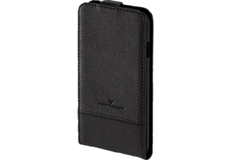 TOM TAILOR Structure, Flip Cover, Apple, iPhone 6, iPhone 6s, Nylon/Polyurethan (PU), Schwarz