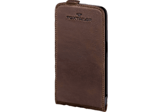 TOM TAILOR Authentic, Flip Cover, Galaxy S6, Leder (Obermaterial), Braun