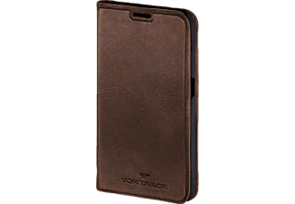 TOM TAILOR Authentic, Bookcover, Galaxy S6 edge, Leder (Obermaterial), Braun