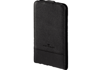 TOM TAILOR Structure, Flip Cover, Samsung, Galaxy S6 Edge, Nylon/Polyurethan (PU), Schwarz
