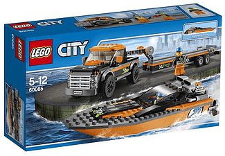 City - 4x4 with Powerboat - (60085)