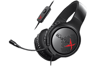 CREATIVE Sound BlasterX H3 Gaming Headset Schwarz, Rot