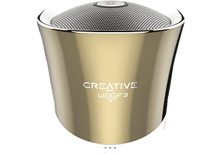 CREATIVE Woof 3 BT, Bluetooth Lautsprecher, Gold
