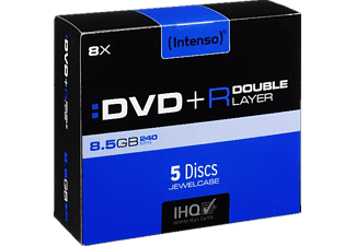 INTENSO 4311245, DVD+R Double Layer Rohlinge, 5 Stk.