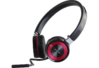 PRIF Playsonic 1 Stereo-Headset , Stereo-Headset, Schwarz/Pink