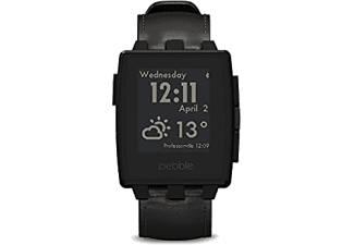 PEBBLE Steel Smartwatch Matte Black - (401BLR)