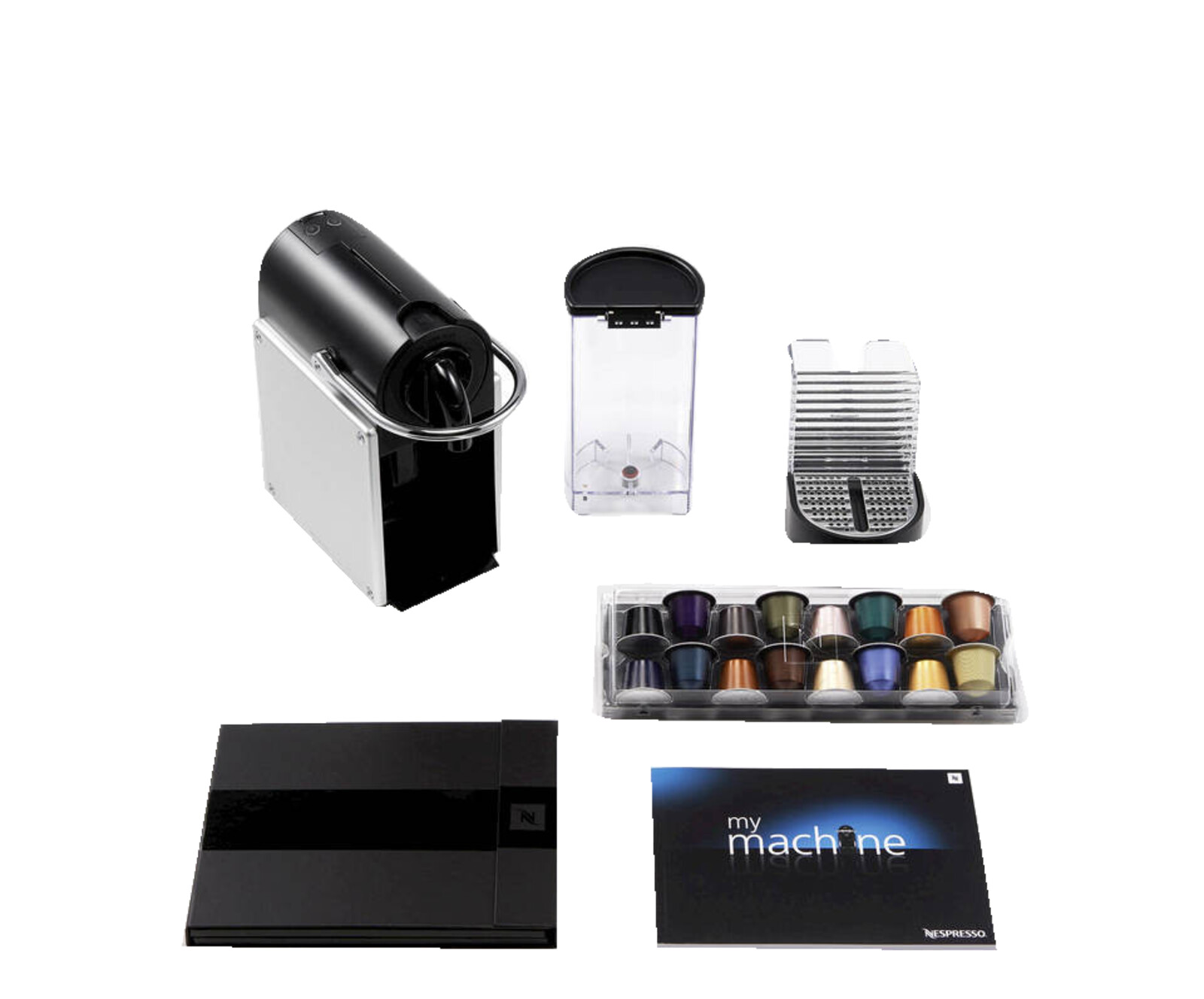 delonghi en125s nespresso pixie nespresso kapselmaschine electric aluminium 8004399324268 ebay. Black Bedroom Furniture Sets. Home Design Ideas
