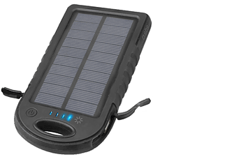 SBS MOBILE Powerbank Solar 5000 MAH - Svart