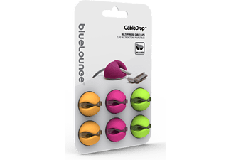 BLUELOUNGE CableDrop 6-pack - Orange/Rosa/Grön