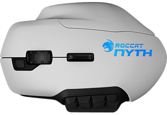 ROCCAT Nyth - Modular MMO Gaming Maus, Weiß, Nyth Modular MMO Gaming Maus, Kabelgebunden, Weiß