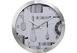 "HAMA ""AG-300"" Kitchen Wall Clock, silent - (00136210)"