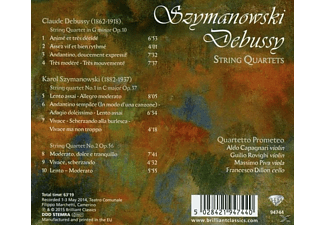 Quartetto Prometeo - Szymanowsky & Debussy: String Quartets [CD]