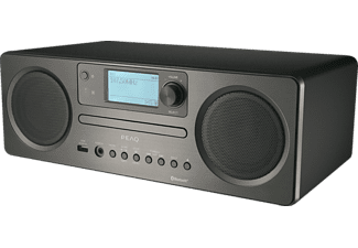 PEAQ PDR350BT Internetradio mit CD-Player, DAB+ Empfang, Bluetooth
