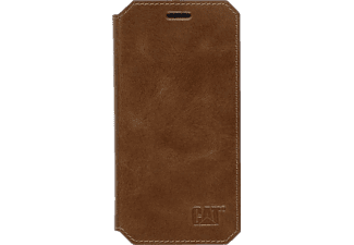 CAT Active Signature Leather, Bookcover, Galaxy S6, Leder (Obermaterial), Braun