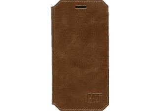 CAT Active Signature Leather, Bookcover, Galaxy S6 edge, Echtleder, Braun