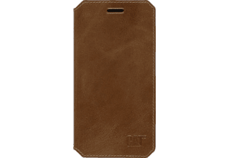 CAT Active Signature Leather, Bookcover, iPhone 6, iPhone 6s, Echtleder, Braun