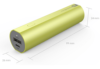 GP FN02M powerbank 2600 mAh groen