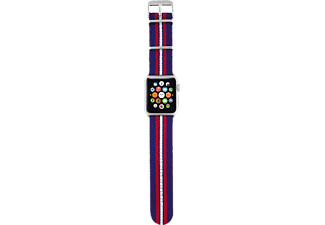 TRUST Nylon Wristband för Apple Watch 38mm - Blå randig