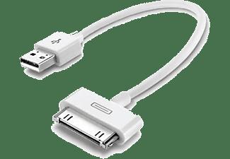 30-pins-naar-USB-datakabel 15cm Wit