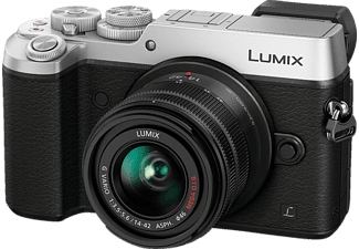 PANASONIC Lumix DMC-GX8 Silver + Kit φακού 14-42mm f/3.5-5.6 OIS - (DMC-GX8KEG-S)